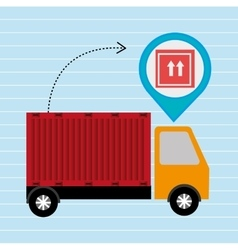 truck delivery cargo pin vector image