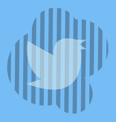 Twitter bird on a background vector