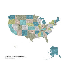 United states america usa higt detailed vector