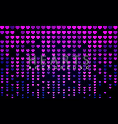 valentines day background with glossy pink vector image