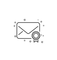 Verified mail line icon confirmed message vector