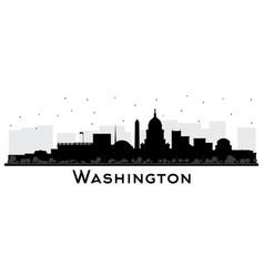 Washington dc usa city skyline silhouette with vector