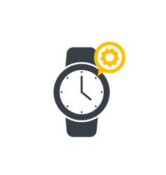 Watch repairs logo vector