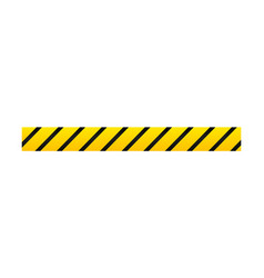 yellow with black police line or danger tape vector image
