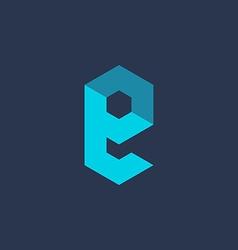 Letter E technology logo icon design template vector image
