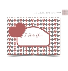 Valentine card for a Valentine Day vector image vector image