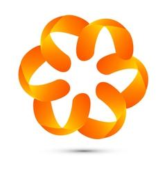 Abstract floral logo vector