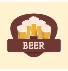 beer glasses drink label vector image