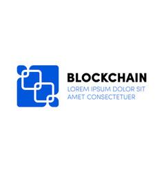 cloud blockchain cryptocurrency server logo vector image