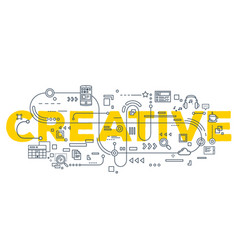 creative of creative word lettering vector image