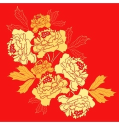 Golden Peony Flower vector image vector image