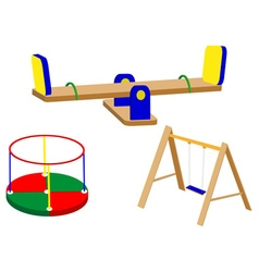 swing carrousel for children vector image vector image