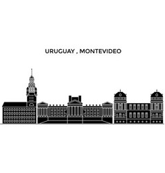 uruguay montevideo architecture city vector image