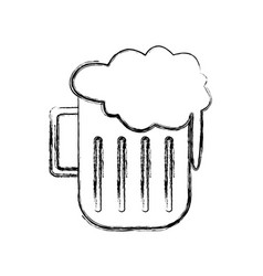 beer glass cup vector image