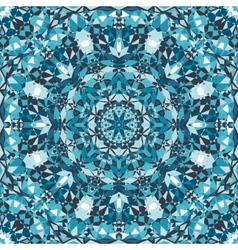 blue decorative kaleidoscope pattern vector image vector image