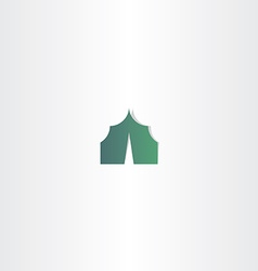 camping tent green icon vector image