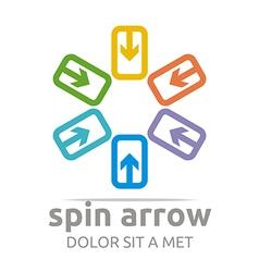 infinity arrow design symbol icon vector image vector image