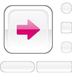 Arrow white button vector image