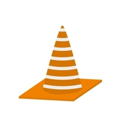 construction cone with stripes vector image