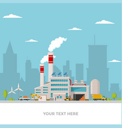 industrial factory in flat style a an vector image