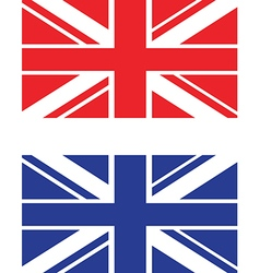 red and blue uk flag vector image