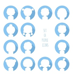 Set of colorful silhouette people icons Funny vector image vector image