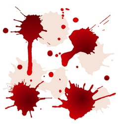 Splattered blood stains vector image vector image