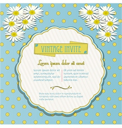 Vintage invite with chamomile flowers vector image vector image