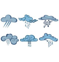 weather web icons set vector image