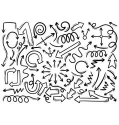 0006 hand drawn arrows vector