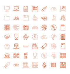 49 storage icons vector image
