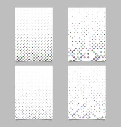 Abstract circle pattern background brochure vector