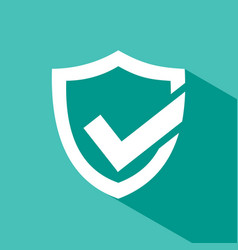Active protection shield icon with shade on a vector