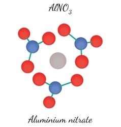 Aluminium nitrate AlNO3 molecule vector
