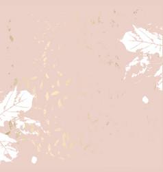 Autumn foliage rose gold blush trendy chic vector