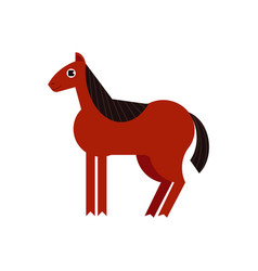 bay horse full length isolated on vector image