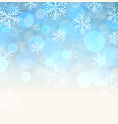 blue snowy background vector image