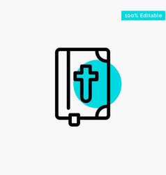Book bible easter holiday turquoise highlight vector