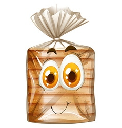 Bread with happy face vector