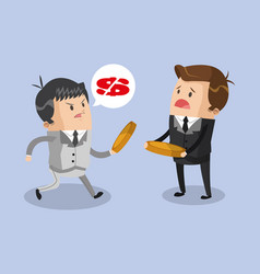 Businessmens discussion for money vector