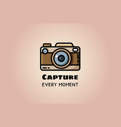 Capture every moment vintage camera or retro vector