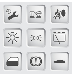 Car Dashboard icons 3 vector