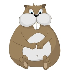 Cartoon character hamster vector