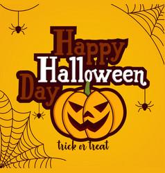 cartoon for halloween day vector image