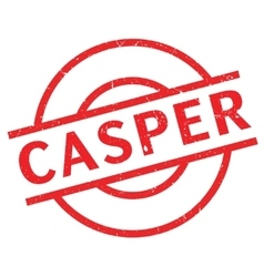 Casper rubber stamp vector