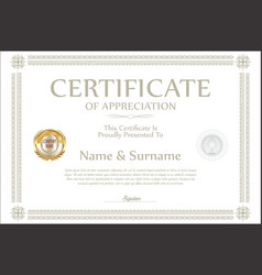 Certificate retro design template 13 vector