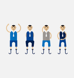 character design of disable person that is vector image