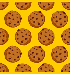 cookies seamless pattern pastry background food vector image
