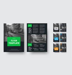 design black flyer design with rectangular vector image