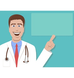 Doctor Pointing vector image